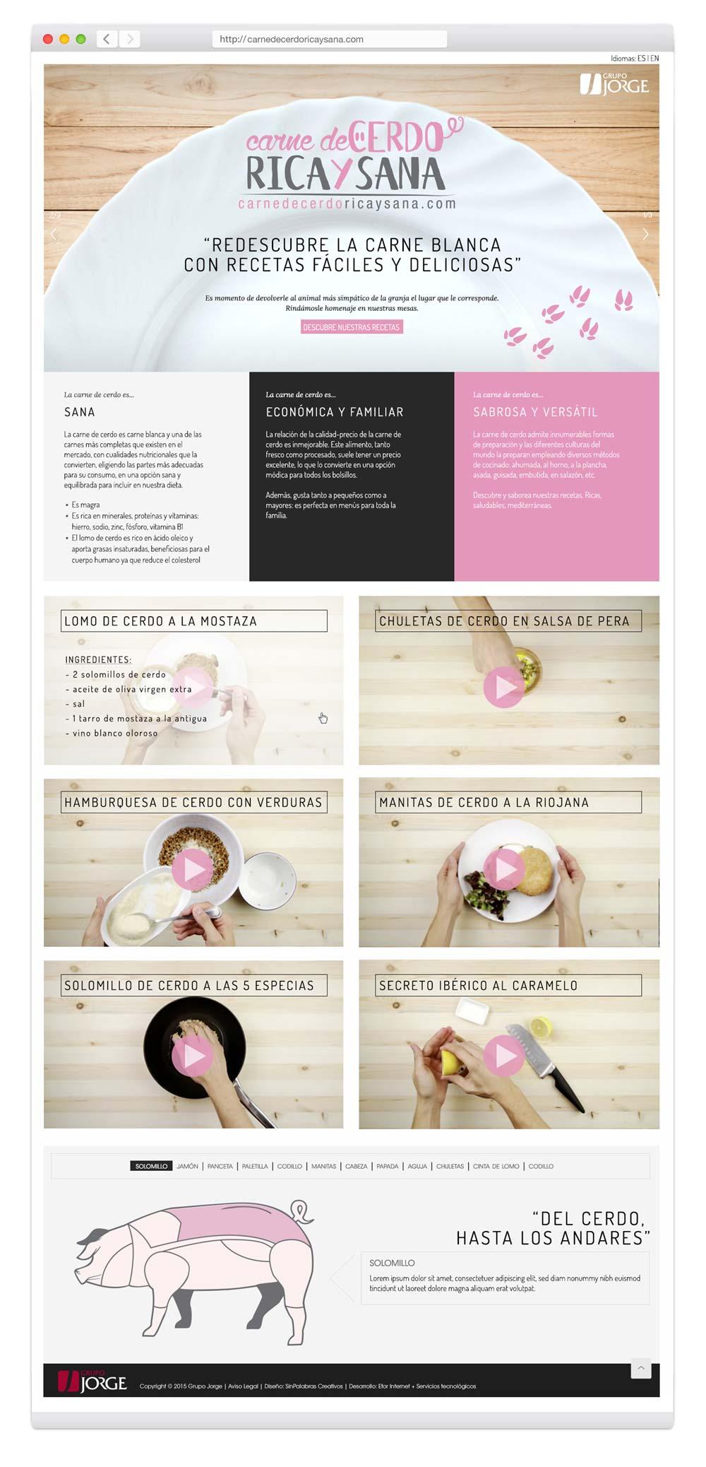 comunicación corporativa web campaña promoción SinPalabras