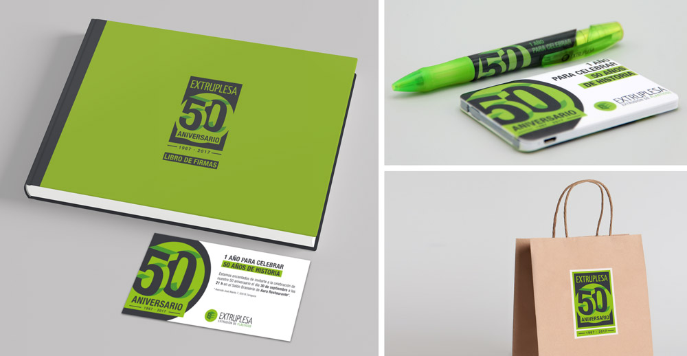 diseño gráfico aniversario merchandasing SinPalabras