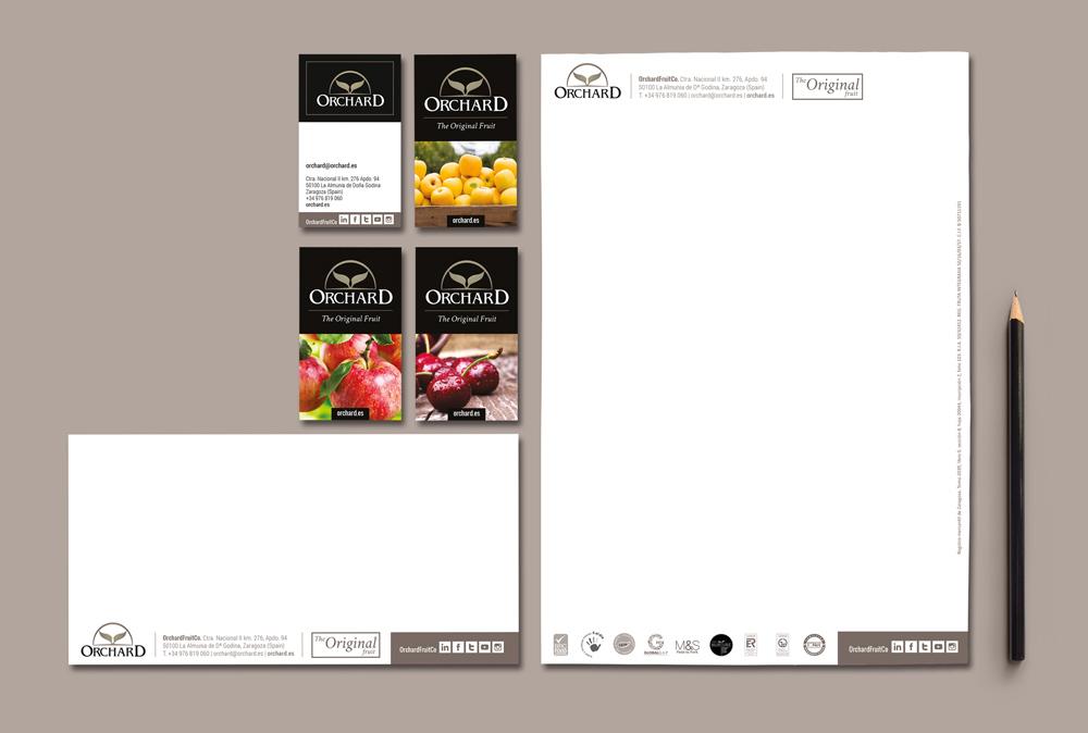 diseño gráfico branding Orchard SinPalabras