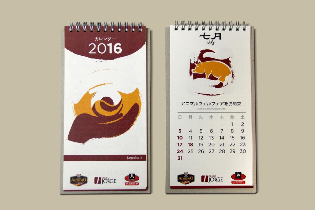diseno gráfico calendario japón SinPalabras