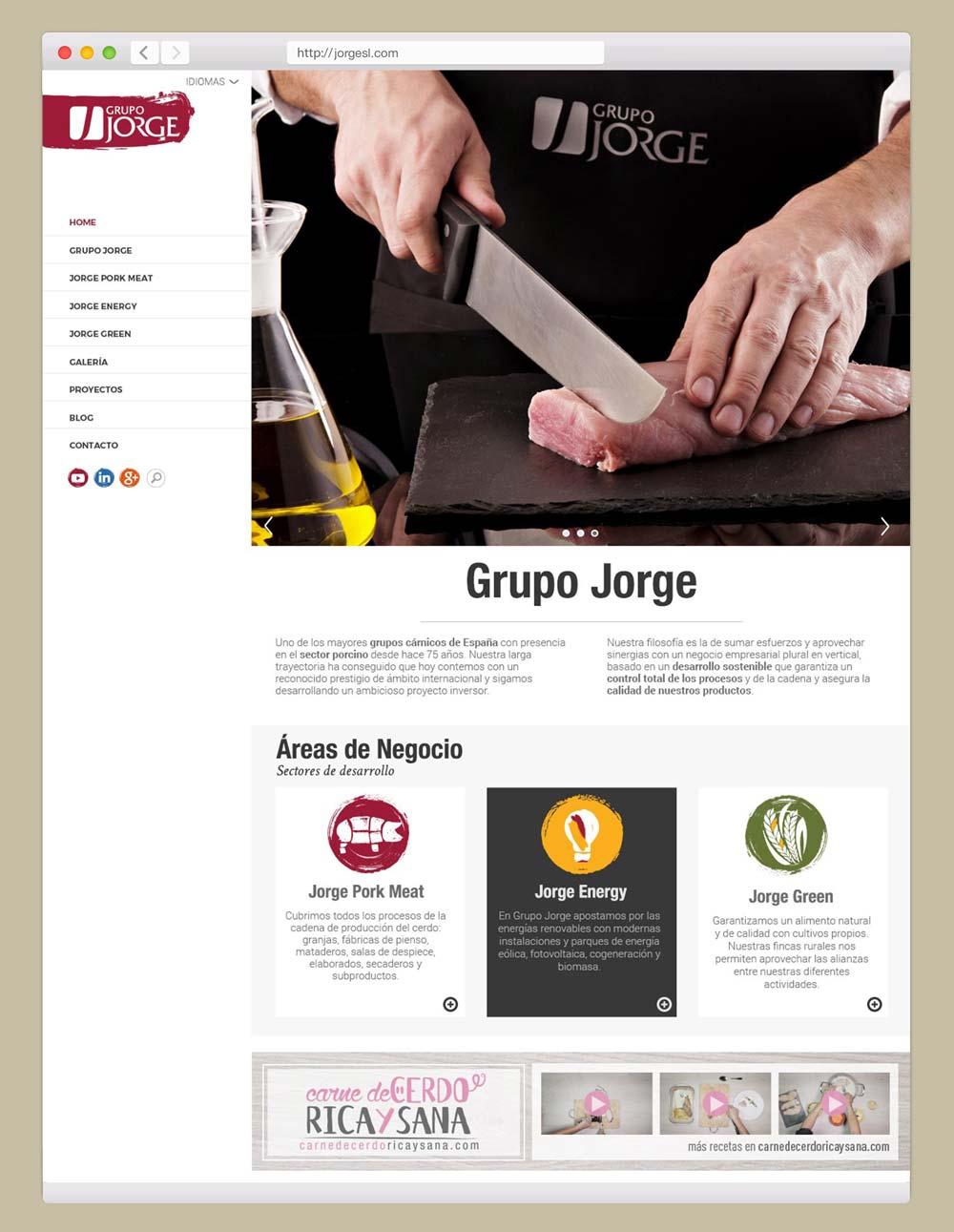 diseño web en Zaragoza Grupo Jorge SinPalabras