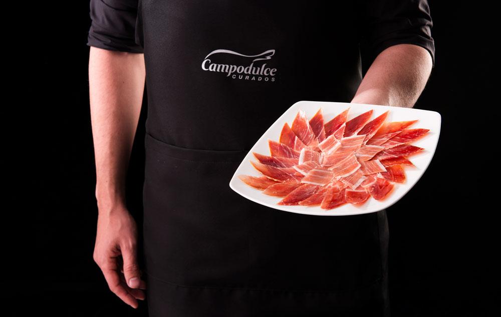 fotografía publicitaria de producto jamón SinPalabras