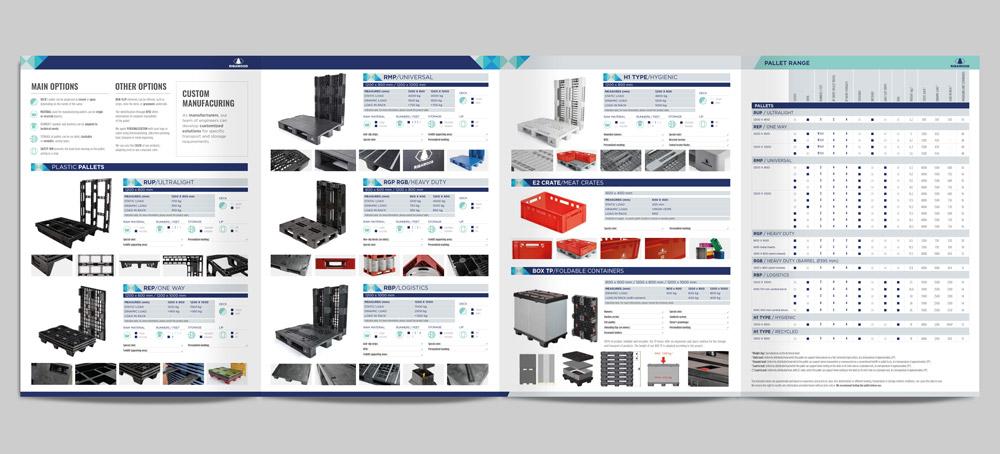 maquetación de catálogo de producto desplegable SinPalabras