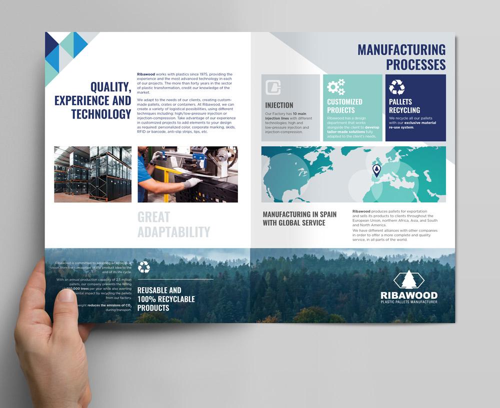 maquetación de catálogo de producto SinPalabras