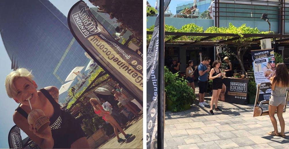 organización eventos corporativos fiesta Genuine Coconut SinPalabras