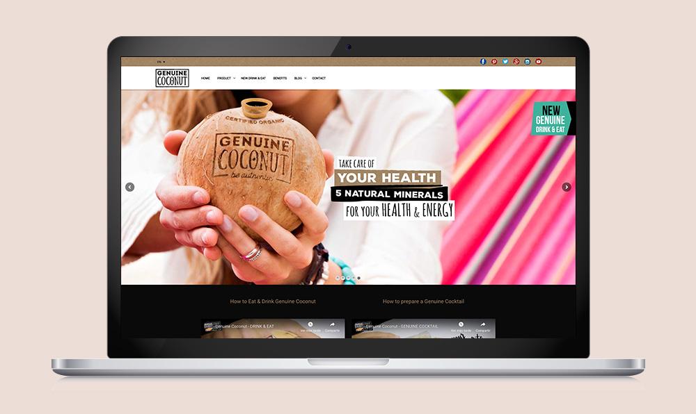 páginas web para empresa Genuine Coconut SinPalabras