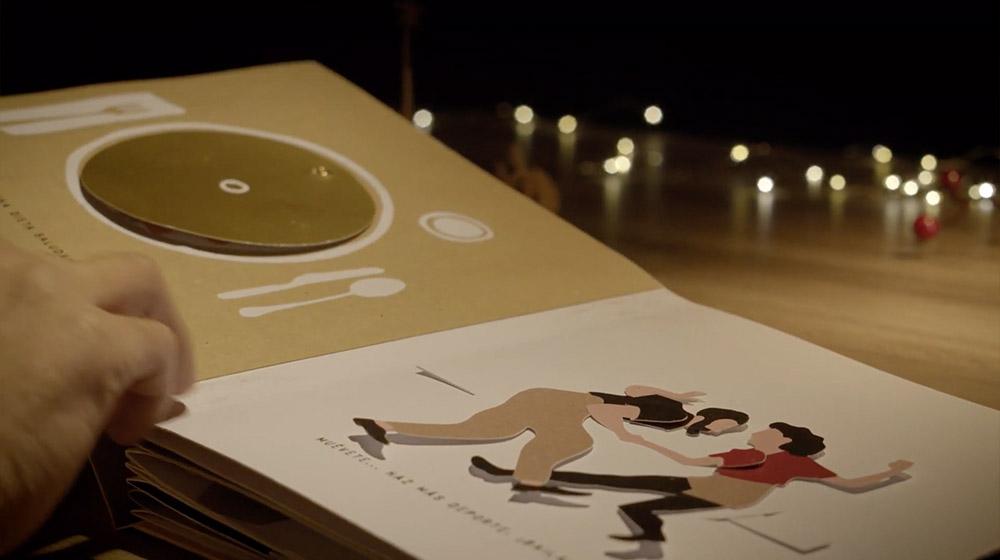 campaña navidad ilustración libro popup interactivo
