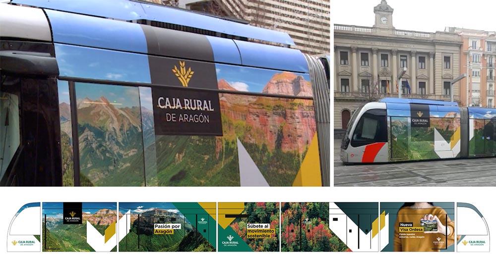 diseño publicidad tranvía zaragoza