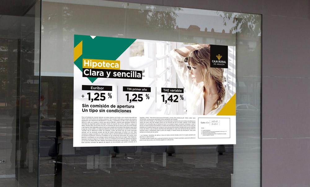 rediseño branding cartel Caja Rural